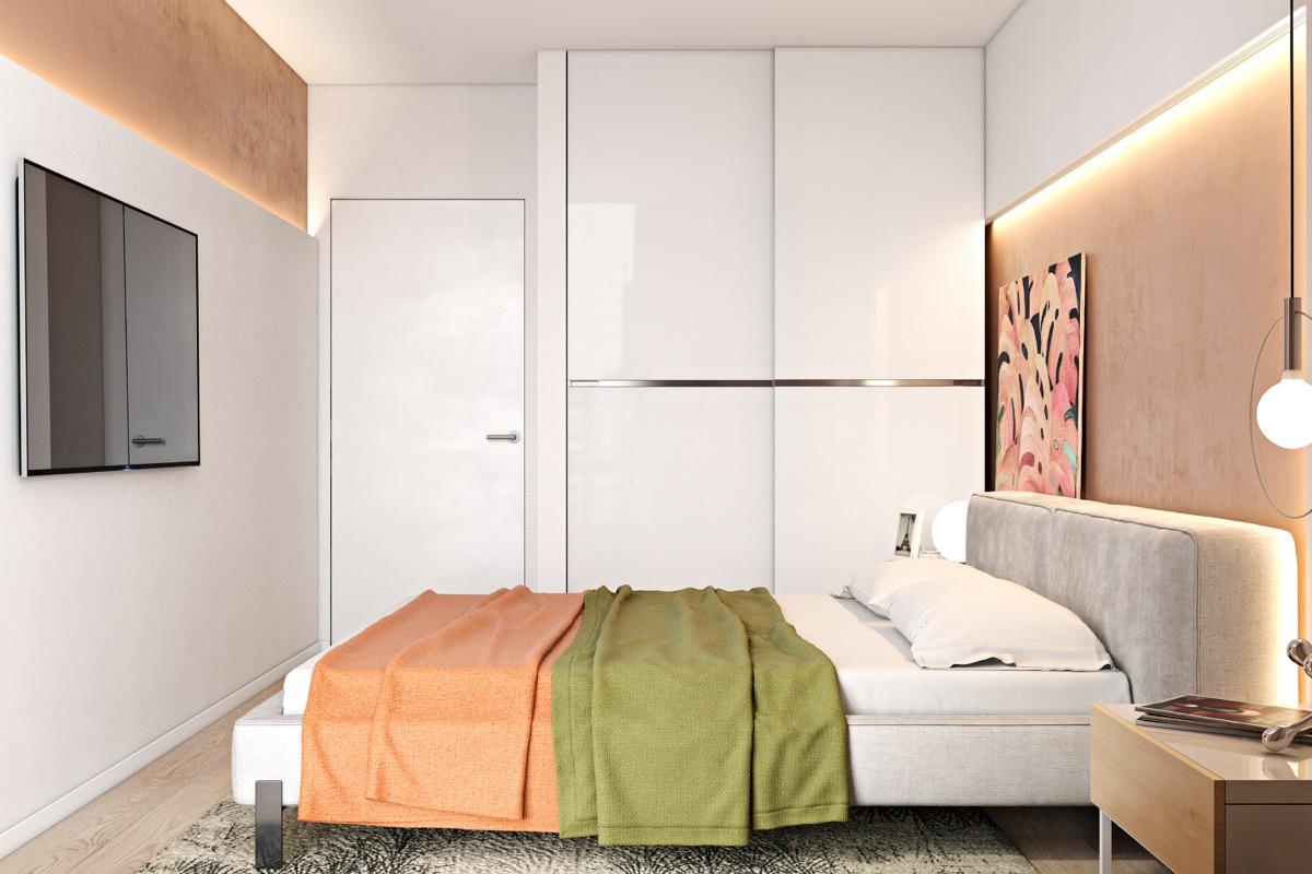 orange-and-green-bedroom