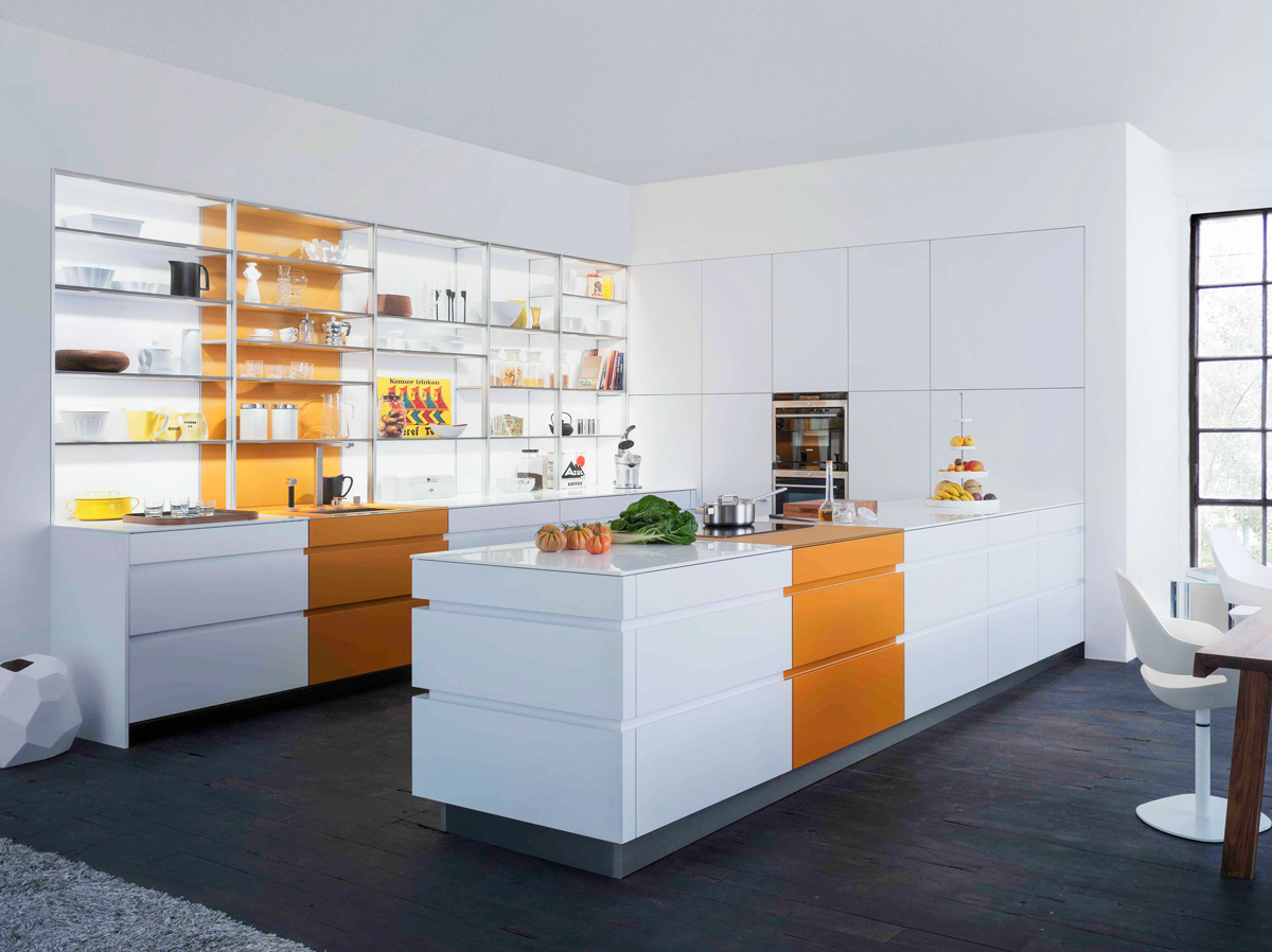 orange-stripe-kitchen-white-illuminated-open-shelving
