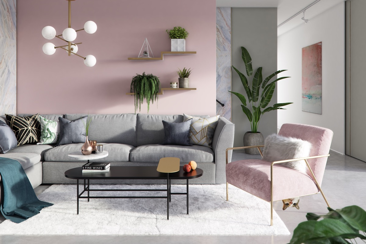 pink-living-room-chair - Awesome Decors
