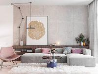 pink-seat-crazy-standing-lamp-light-grey-living-room