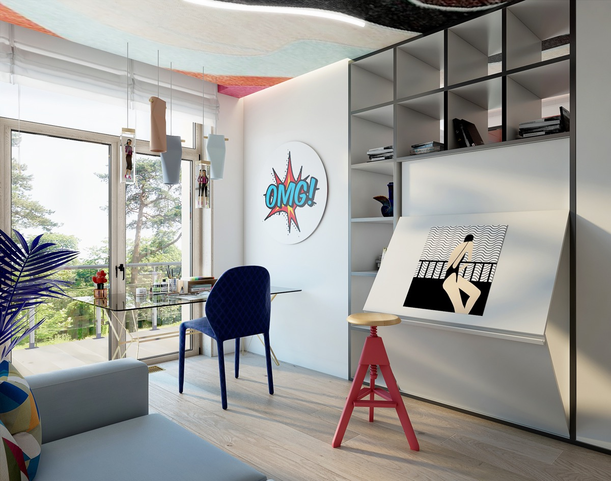 pop-art-style-home-office-and-art-studio