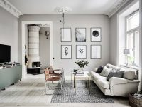 prints-on-wall-textured-rug-gray-room-ideas