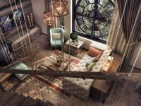 quilted-sofa-metal-elements-rustic-modern-decor-living-room