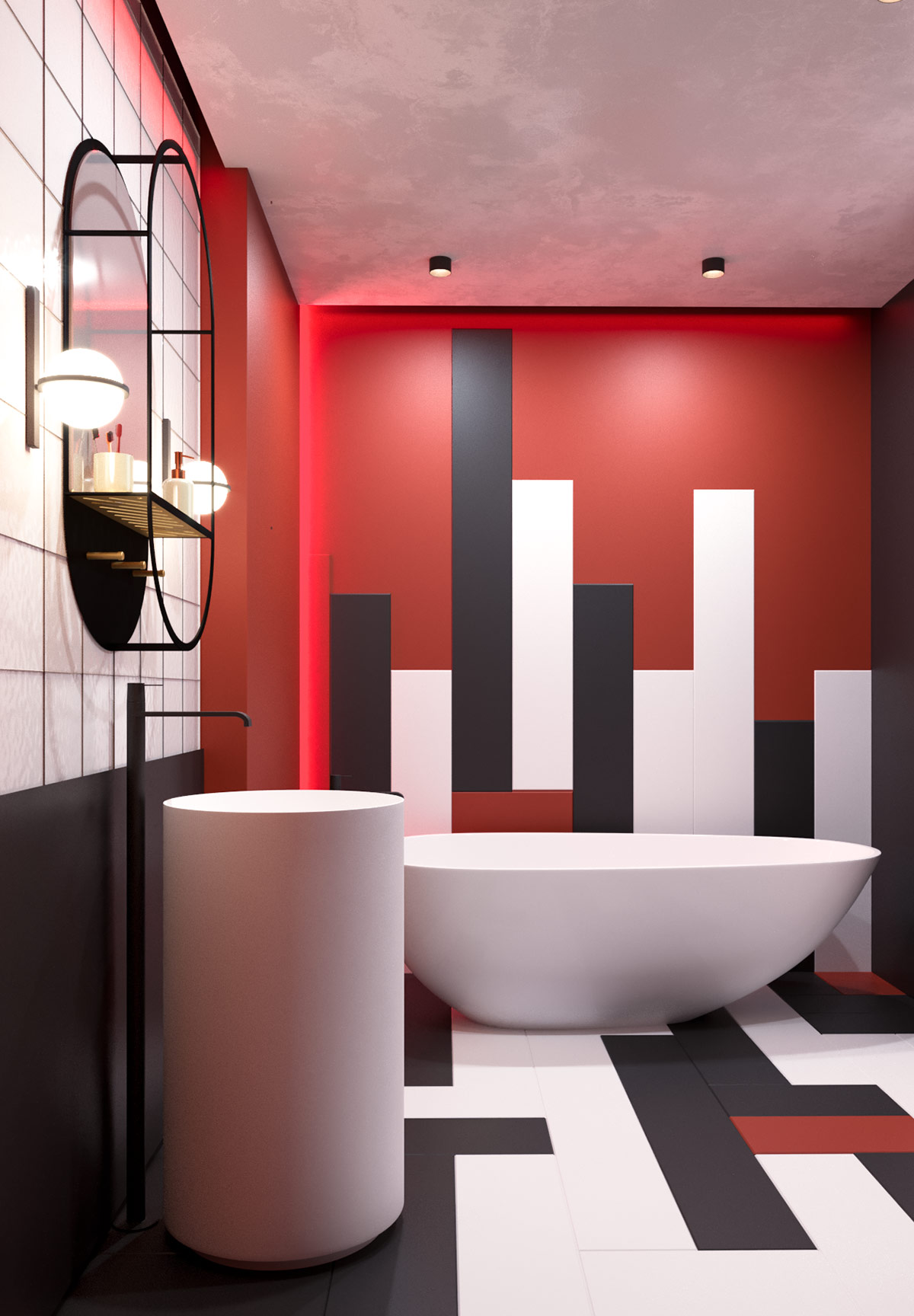 red-bathroom-accents