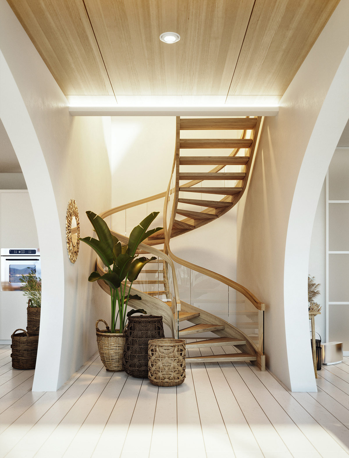 rustic-spiral-staircase-design