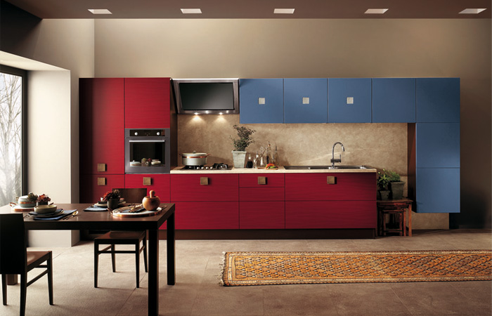 scavolini-Red-and-Blue-warm-Kitchen-Design