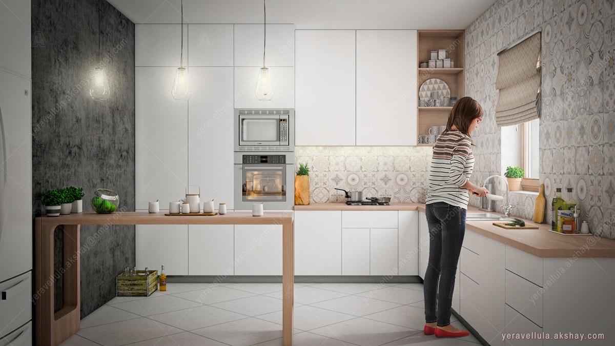 simple-wooden-frames-Scandinavian-kitchen