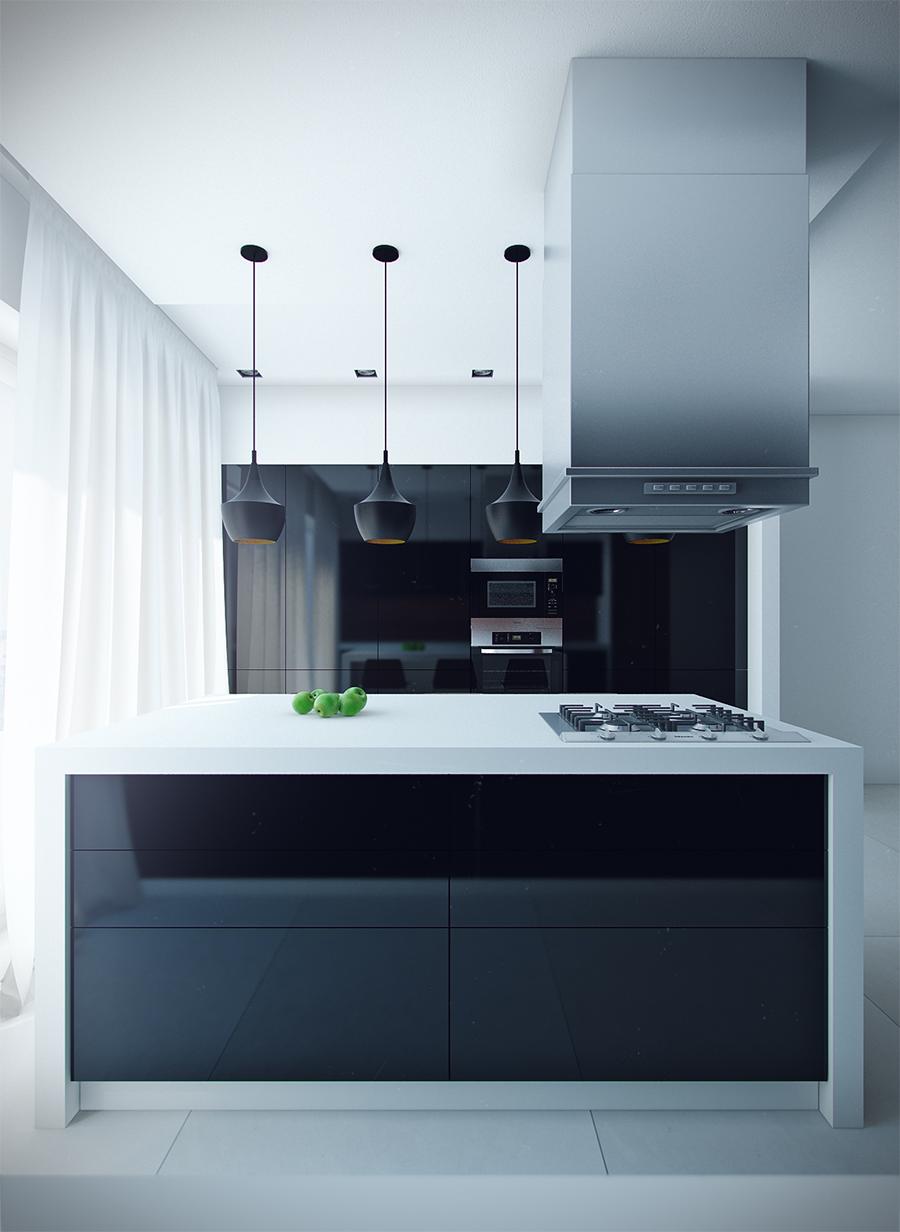 sleek-modern-kitchen-with-island