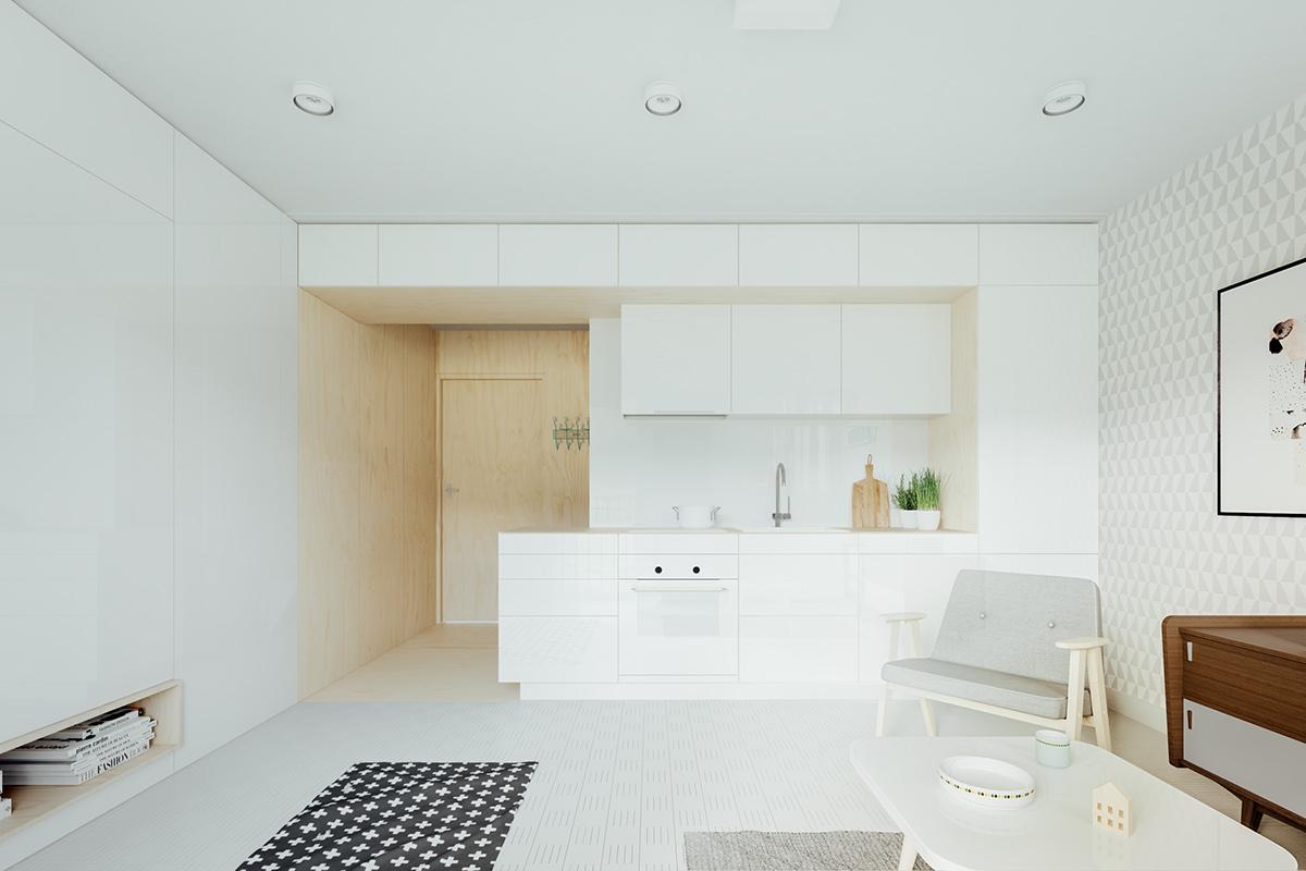 studio-kitchen-all-white-minimalist