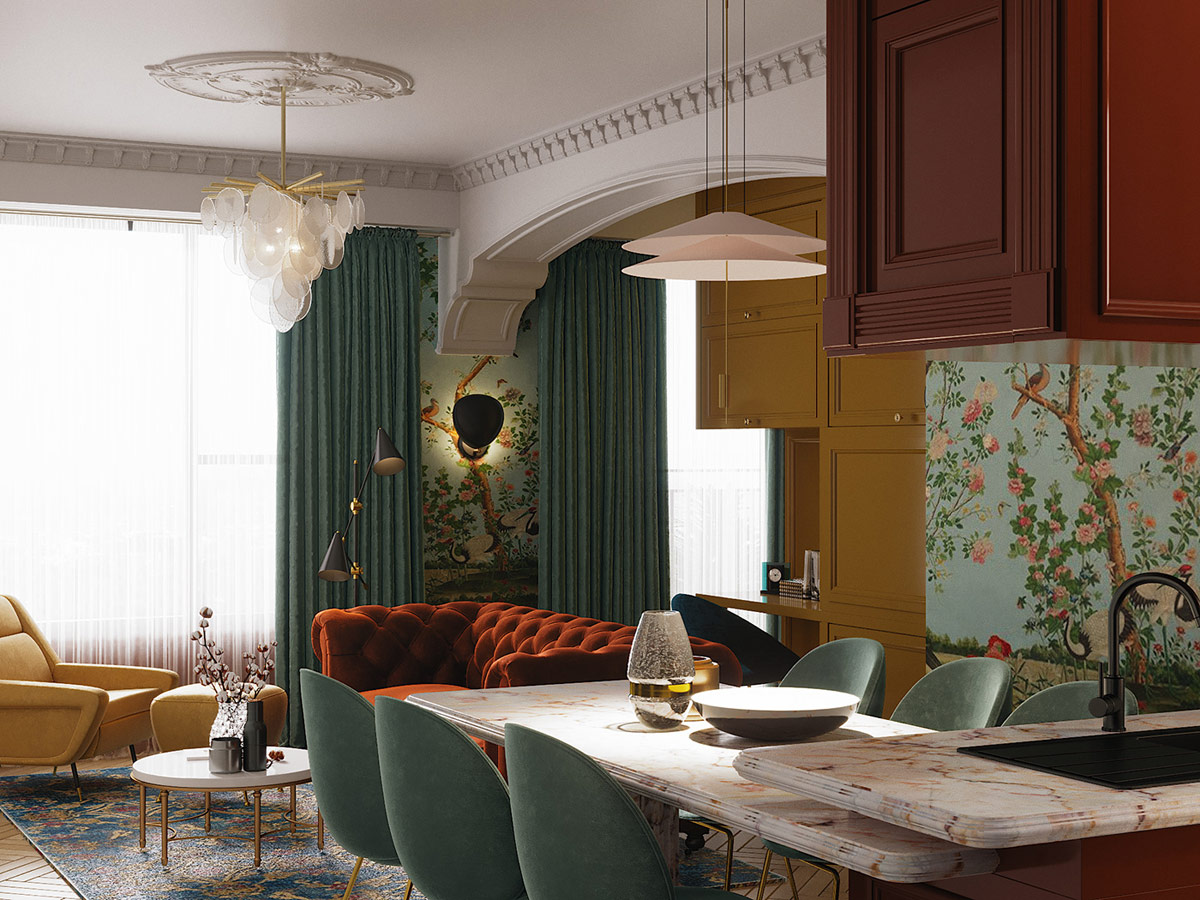 teal-dining-chairs