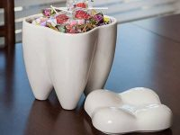 tooth-shape-white-unusual-cookie-jars