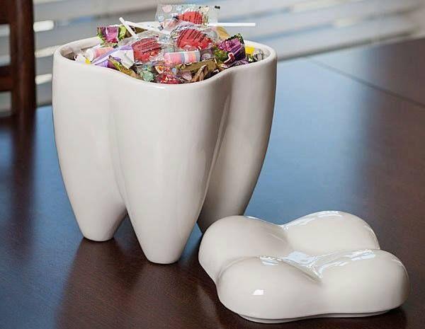 tooth-shape-white-unusual-cookie-jars