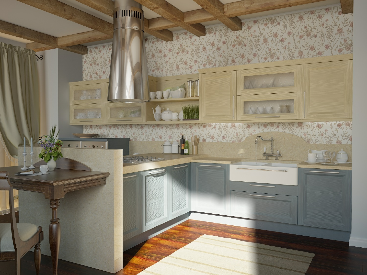 traditional-kitchen-floral-motif-2