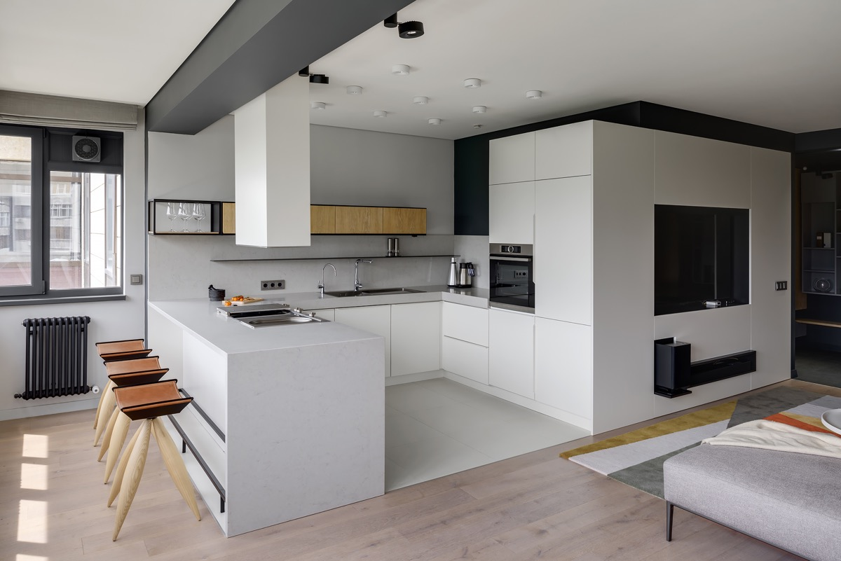 u-shaped-kitchen-designs-with-breakfast-bar