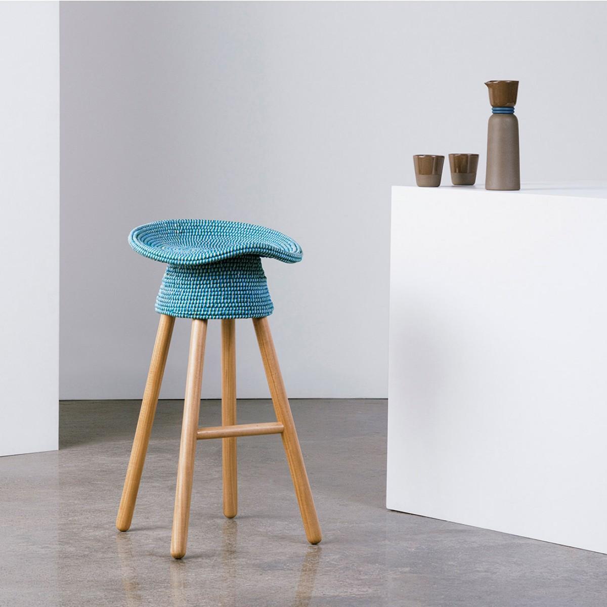 unique-blue-upholstered-modern-stool