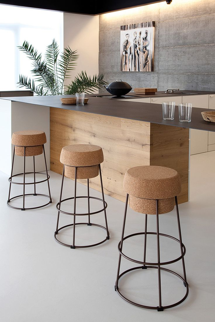 unique-kitchen-stools-cork-and-metal