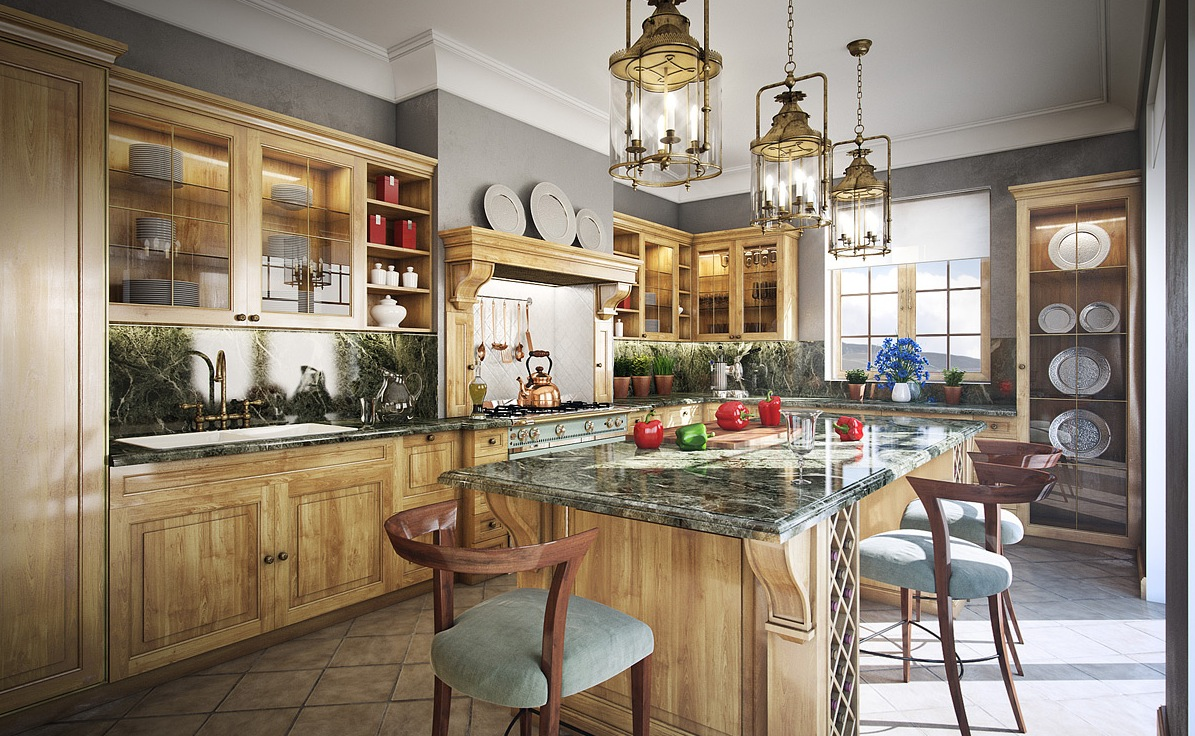 warm-wood-and-grey-traditional-kitchen