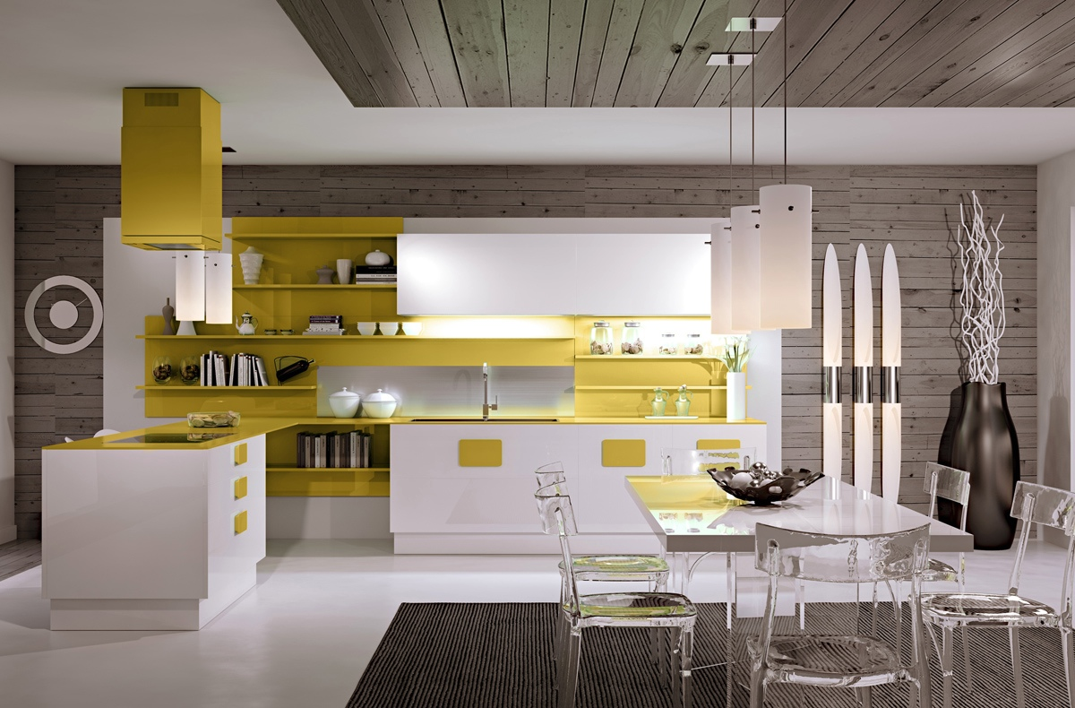 white-and-mustard-kitchen-bold-open-shelving