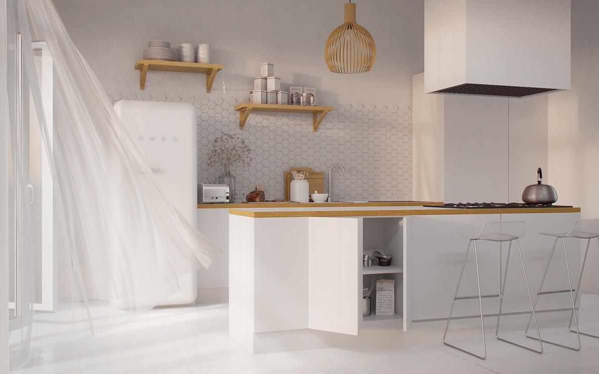 white-and-wood-kitchen-minimalist-stencil-stools