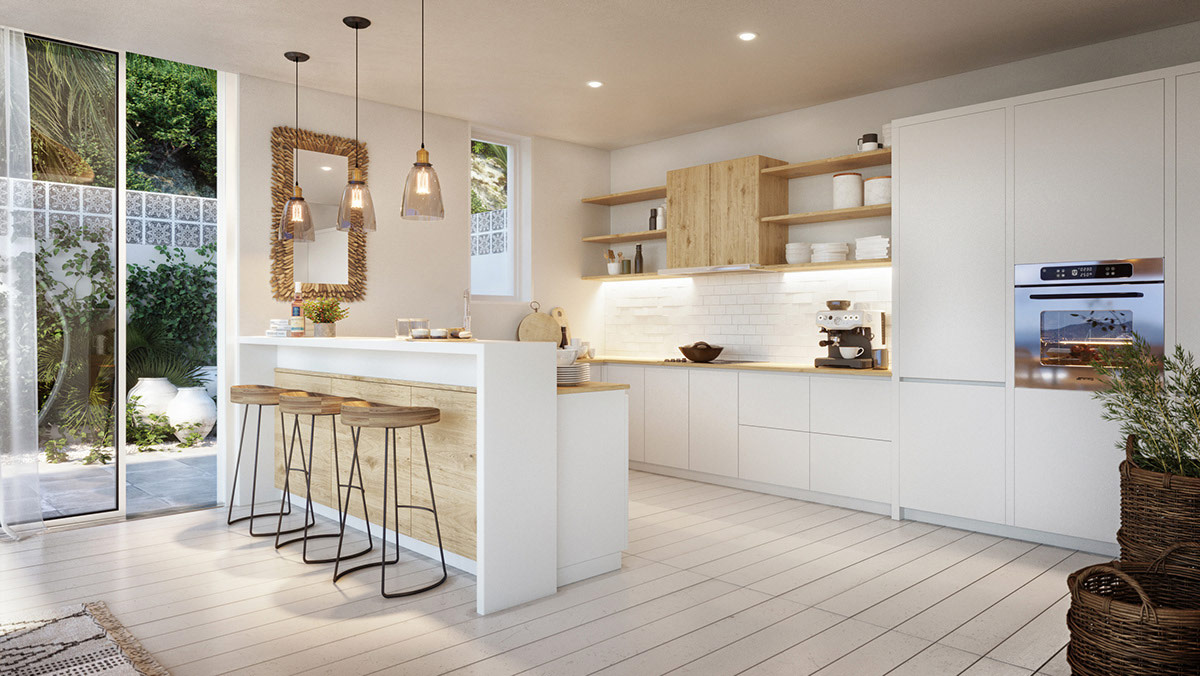 white-and-wood-kitchens