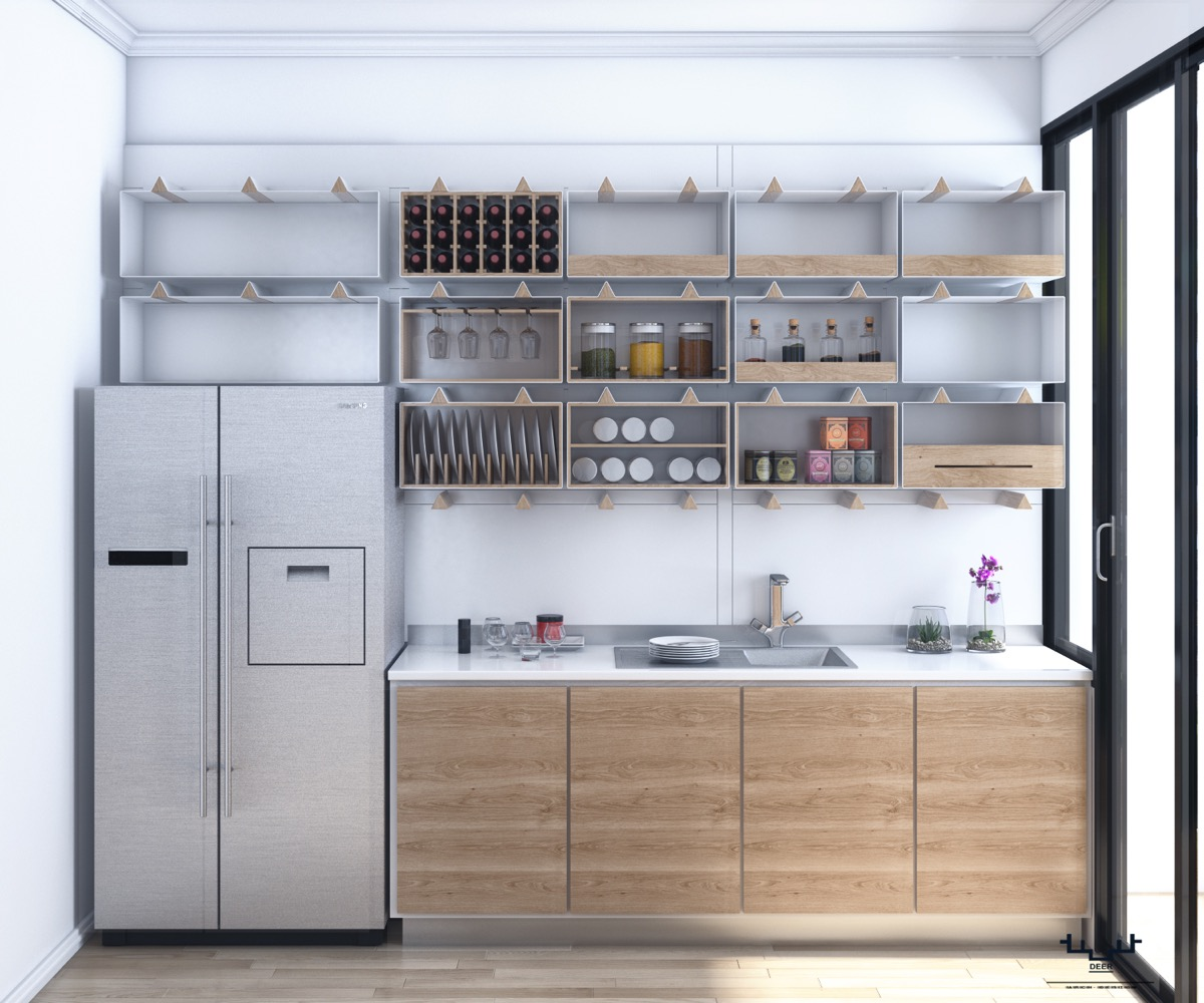 white-and-wooden-kitchen-open-shelving
