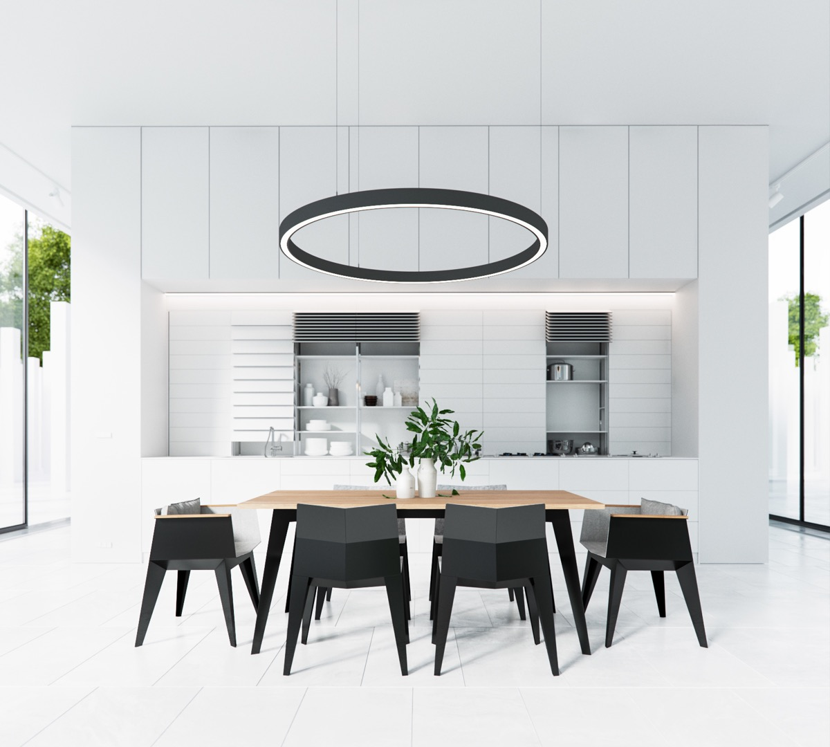white-dining-room-hutches - Awesome Decors
