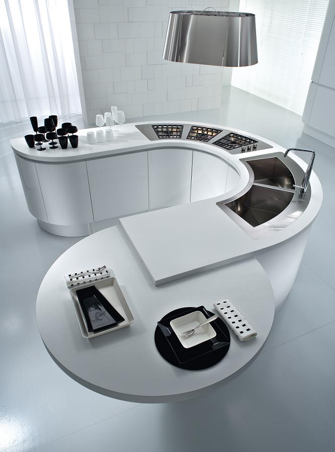 white-modular-circular-kitchen-center