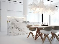 white-origami-lighting-marble-kitchen