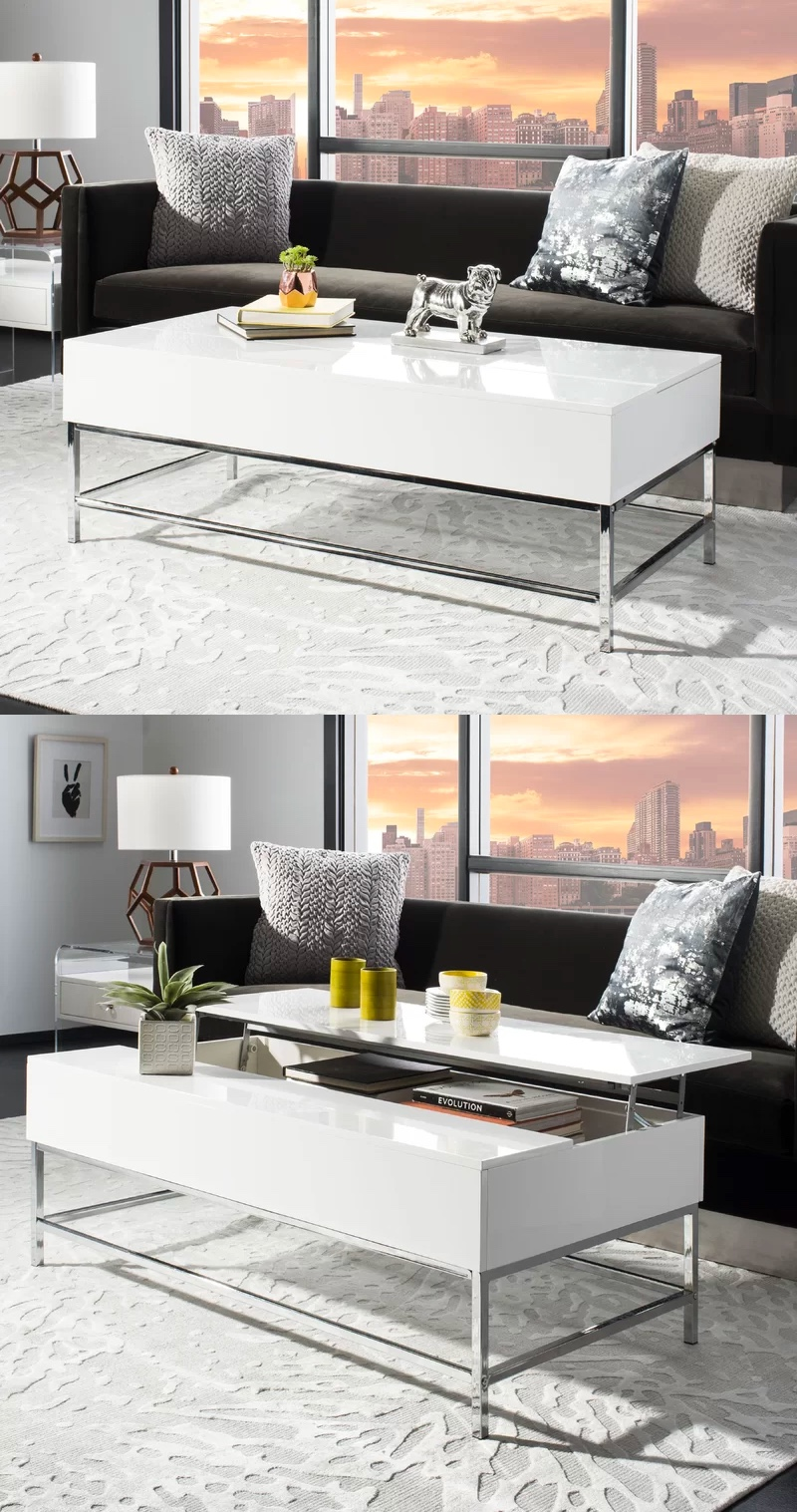 white-with-chrome-legs-modern-lift-top-coffee-table