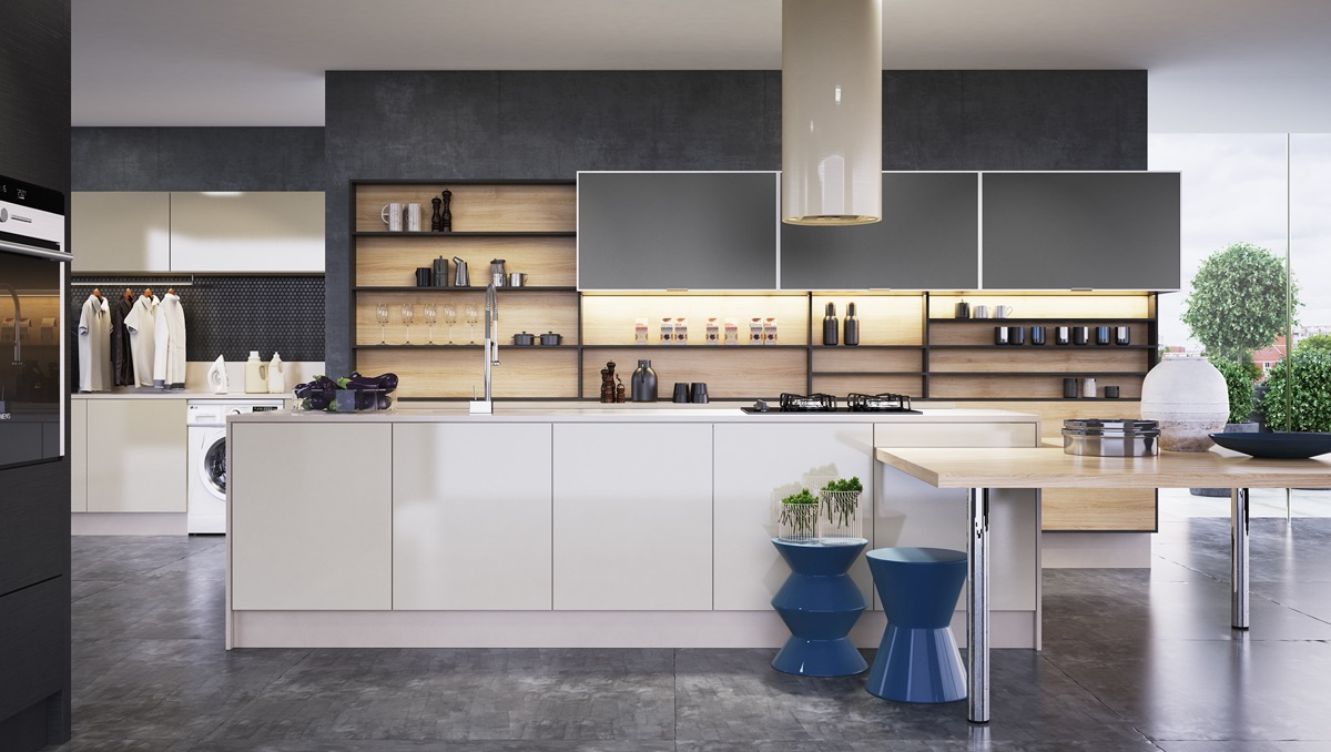 wood-and-black-stencil-open-shelving-spacious-kitchen