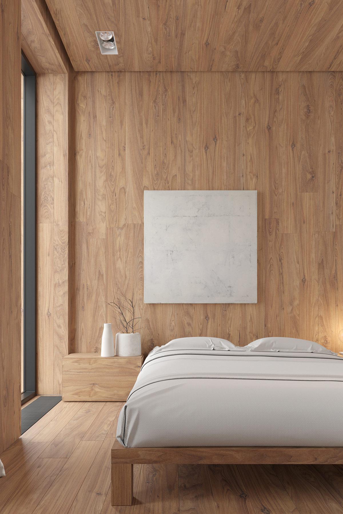 wood-wall-bedroom
