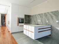 wooden-corridor-marble-kitchen