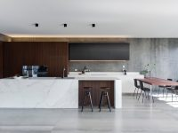 wooden-inlet-marble-kitchen-concrete-floor