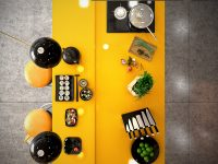 yellow-and-black-kitchen