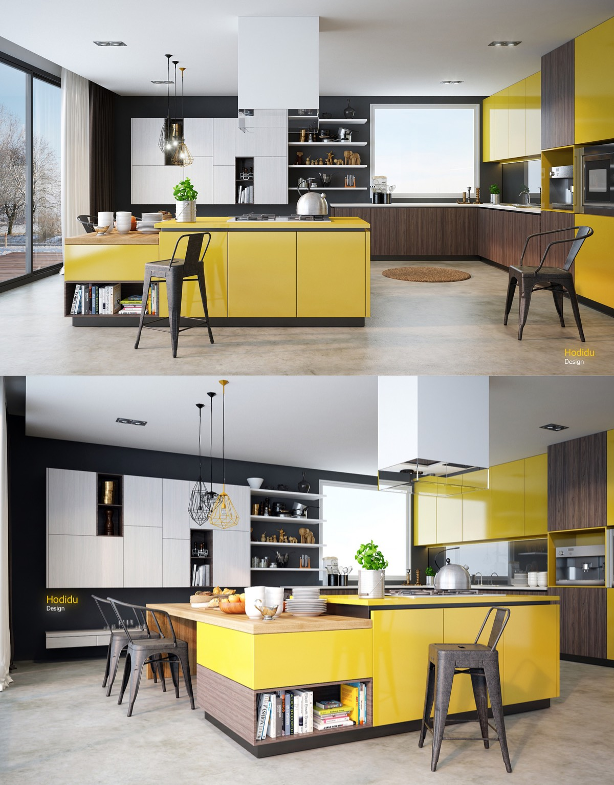 yellow-and-wood-kitchen
