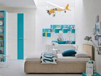 yellow-plane-turquoise-blue-bedroom