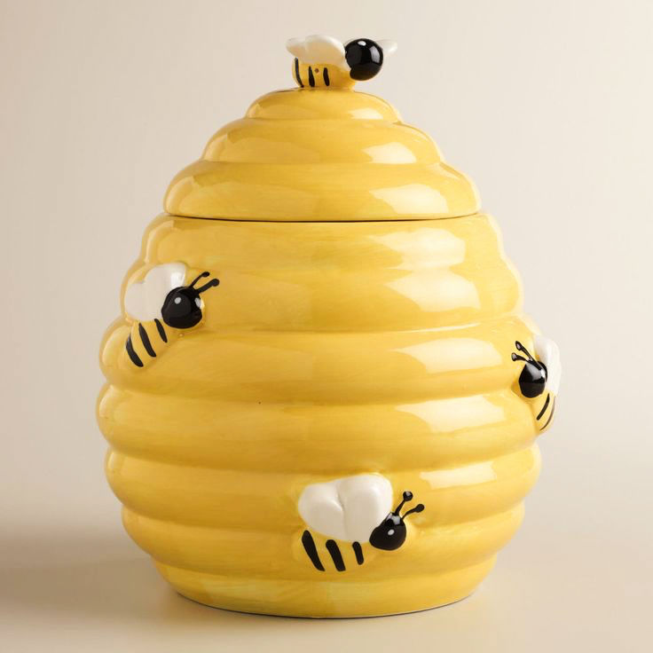 yellow-ribbed-beehive-novelty-cookie-jars