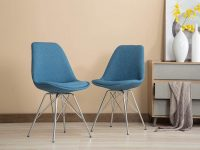 Blue-Upholstered-Eiffel-Base-Kitchen-Chair-WIth-Silver-Metal-Legs