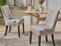 Comfortable-Kitchen-Chairs-With-No-Arms-Grey-Padded-Seating