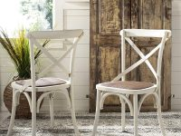 Farmhouse-Style-Antique-Kitchen-Chair-white-Finish-Burlap-Seat