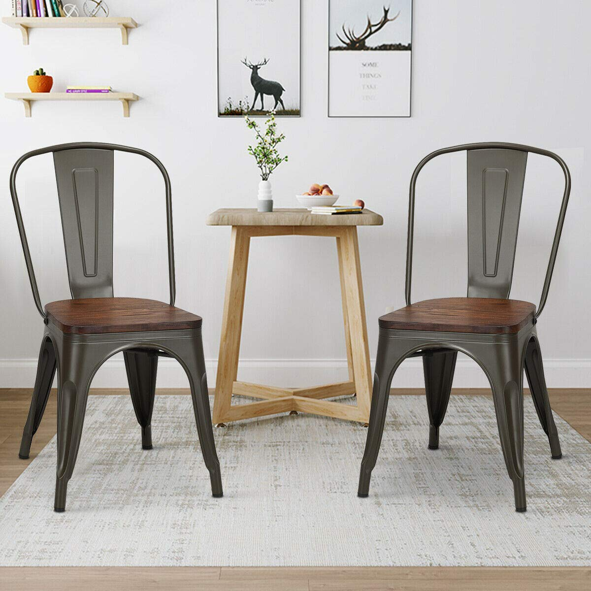 Industrial-Style-Metal-And-Wood-Kitchen-Chair-Tolix-Marais-Style