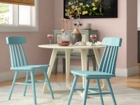 Light-Blue-Kitchen-Chairs-Solid-Wood-With-Spindle-Back