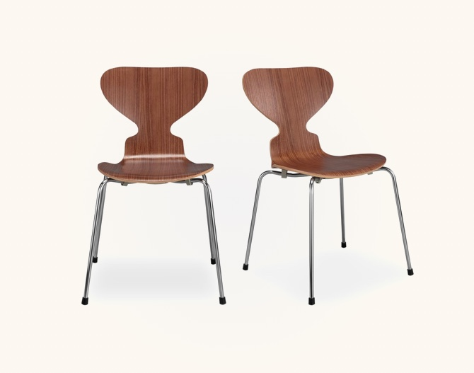 Mid-Century-Modern-Style-Kitchen-Chairs-Molded-Plywood-Dark-Brown