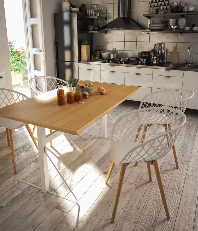 Modern-Netted-Back-Kitchen-Chair-Bucket-Seat-With-Wood-Legs