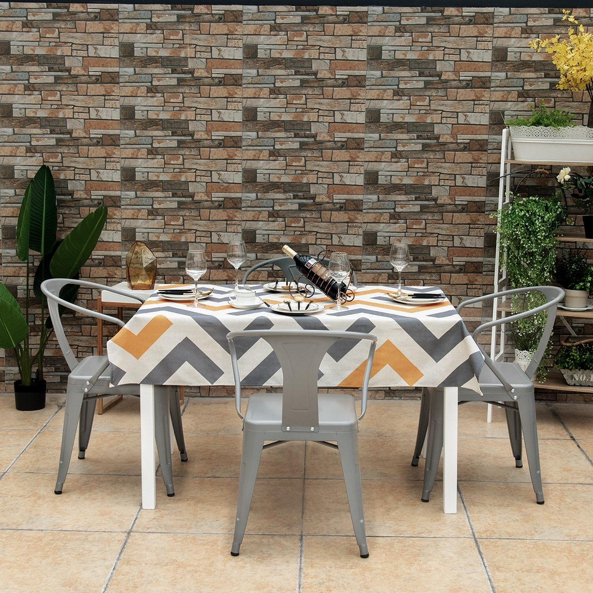 Silver-Metal-Kitchen-Chair-Indoor-OutdoorTolix-Marais-A56-Kitchen-Armchair