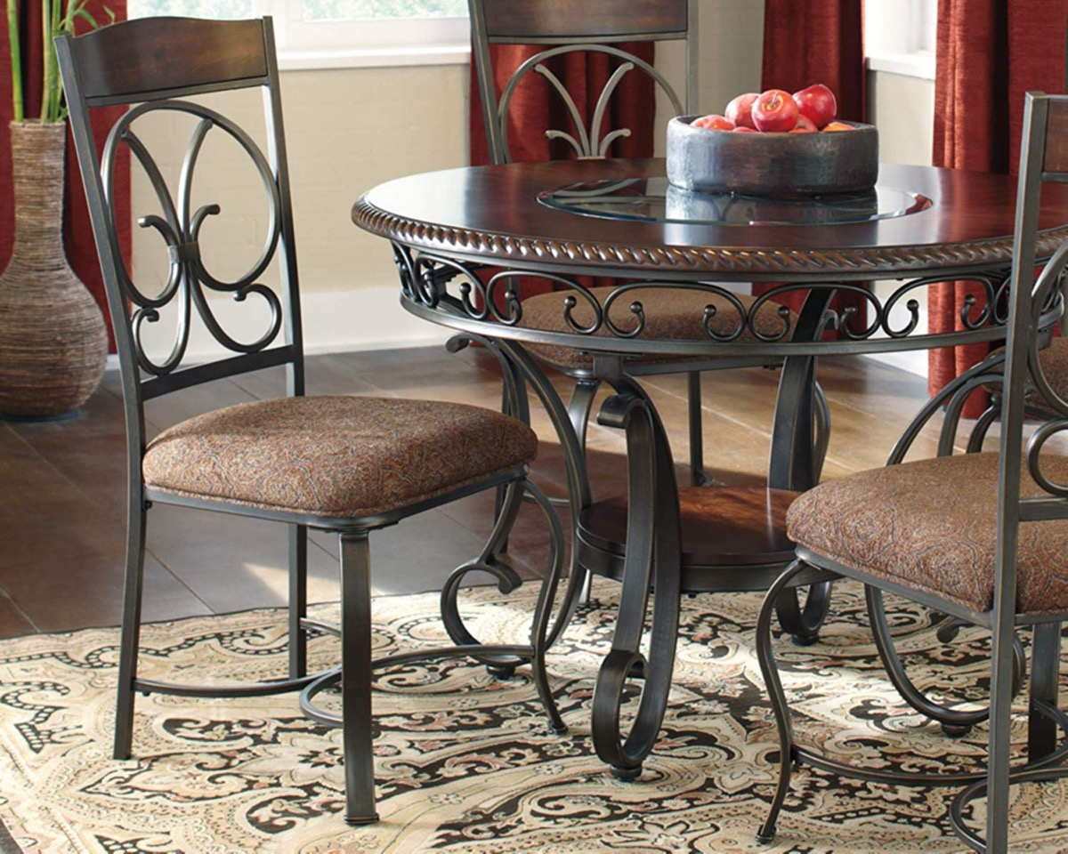 Traditional-Wrought-Iron-Kitchen-Chairs-With-Padded-Seat-And-Ornate-Scrolls
