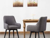 Upholstered-Swivel-Kitchen-Chair-With-Armrests-Comfortable-Armchair-For-Dining-Table