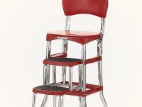 Vintage-Kitchen-Step-Stool-Chair-Red-Glossy-Retro-Kitchen-Decor