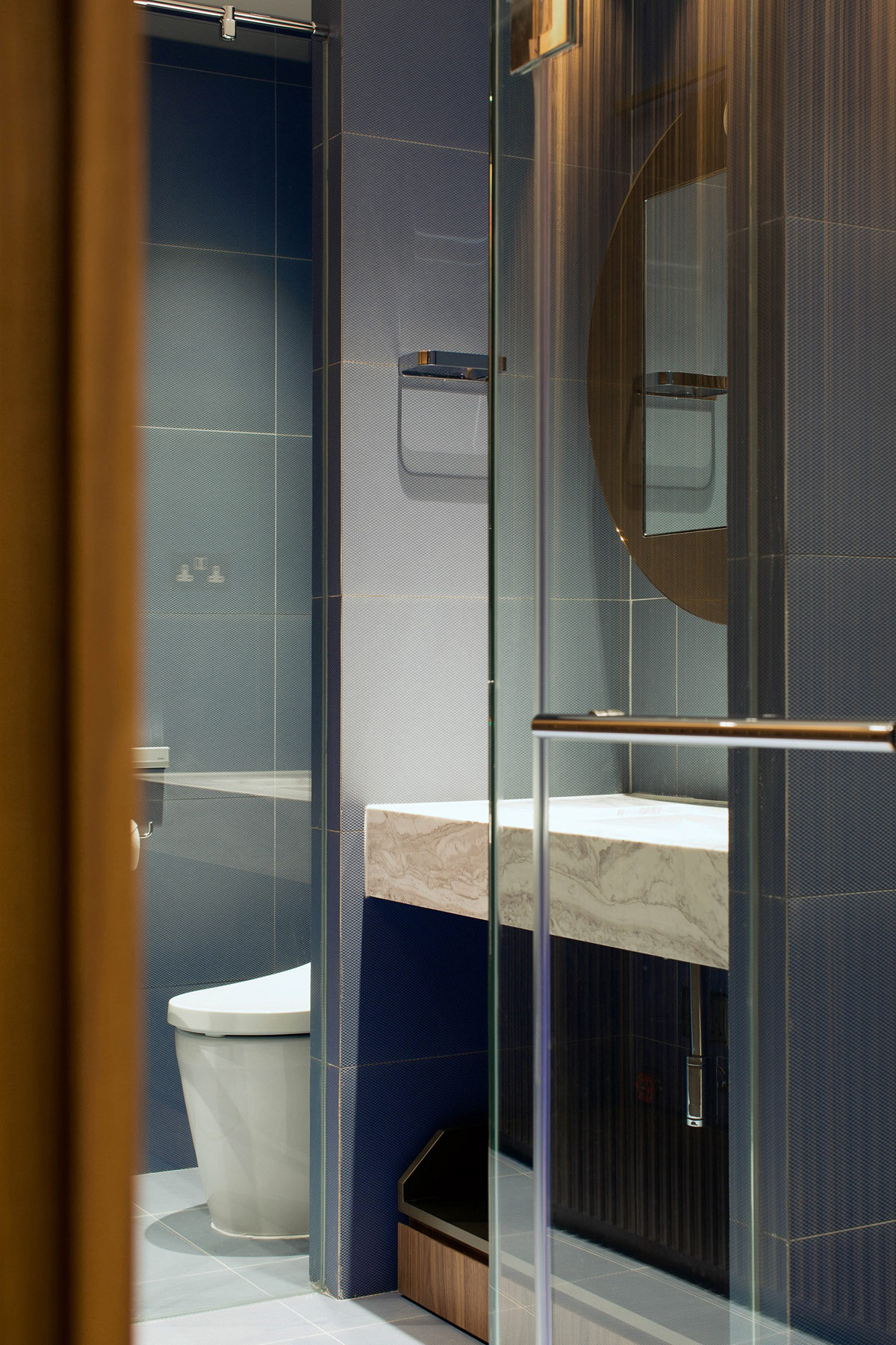 Blue And Gold Bathroom Awesome Decors