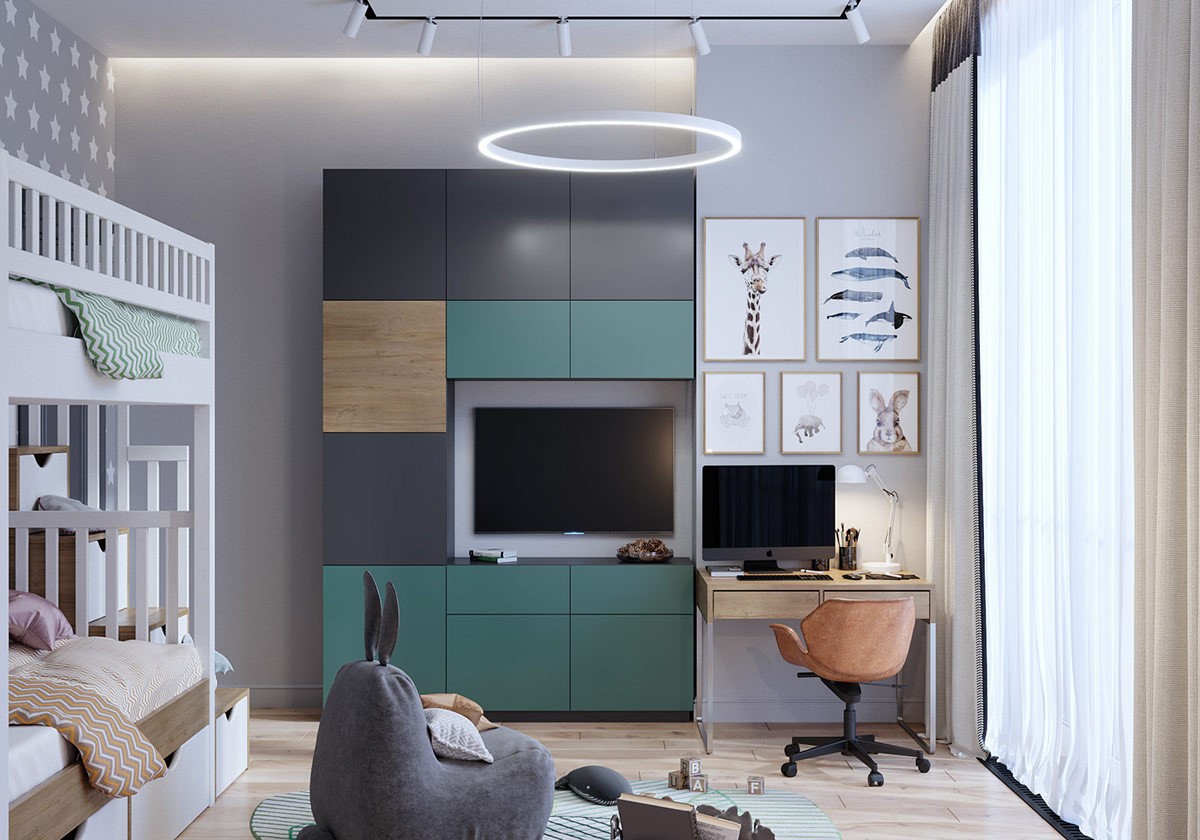 green-and-grey-kids-room-decor